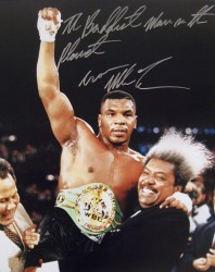 """The Baddest Man On The Planet"" Iron Mike Tyson Autographed 16x20 Photo w/ Don King"
