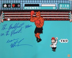 """The Baddest Man On The Planet"" Iron Mike Tyson Autographed 16x20 Photo Punch Out"