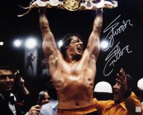 "Sylvester Stallone Autographed ROCKY 16x20 Photo ""YO ADRIAN I DID IT"""