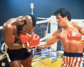 "Sylvester Stallone Autographed ROCKY 16x20 Photo ""CLUBBER LANG BODYSHOT"""