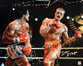 "Sylvester Stallone & Dolph Lundgren ""Ivan Drago"" Signed ROCKY IV 16x20 Photo"