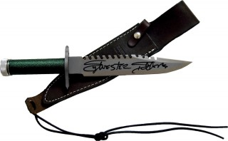 Sylvester Stallone Autographed FIRST BLOOD RAMBO Knife