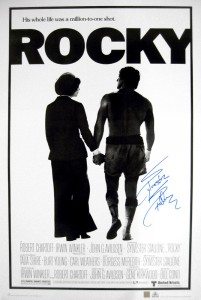 Sylvester Stallone Autographed ROCKY 24x36 Movie Poster