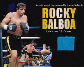 Sylvester Stallone 8x10 Photo With Screen Used Boxing Ring Swatch From Rocky Balboa