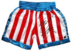 Sylvester Stallone Autographed ROCKY IV Boxing Trunks